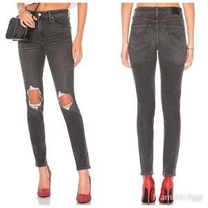 Levi's 721 High Rise Skinny Jeans Ripped Knees 26